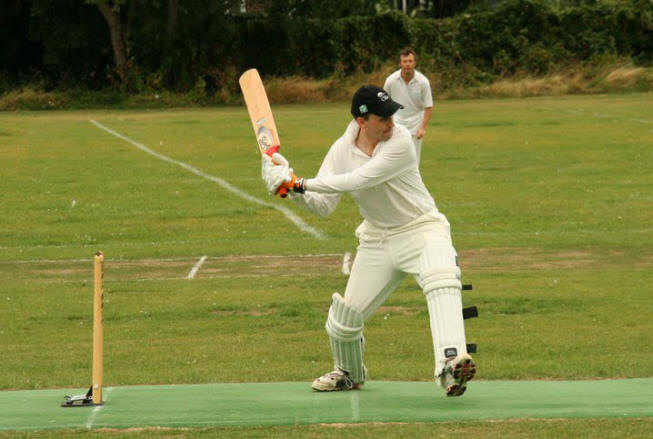 Big hitter: Simon Hemelryck was top scorer in an underperforming Fallopians innings           Photo: Tim Castle